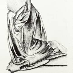 da vinci's drapery, 8 x 12 inch, swati vohra,drawings,expressionist drawings,fine art drawings,cartridge paper,graphite pencil,8x12inch,GAL0728216187