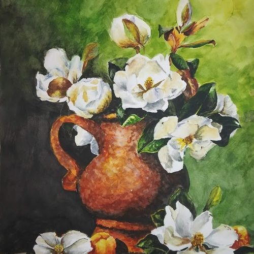 flowers beauty, 10 x 12 inch, chandrakesh  singh,paintings,flower paintings,still life paintings,nature paintings,illustration paintings,paintings for dining room,paintings for living room,paintings for bedroom,paintings for office,paintings for bathroom,paintings for kids room,paintings for hotel,paintings for kitchen,paintings for school,paintings for hospital,paper,watercolor,10x12inch,GAL0705616194Nature,environment,Beauty,scenery,greenery
