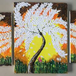 nature wall, 12 x 18 inch, madhurani jadhav,paintings,abstract paintings,canvas,acrylic color,12x18inch,GAL0418716211