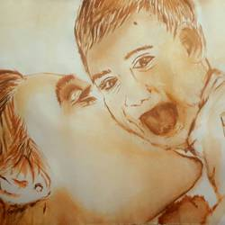 mother and child, 8 x 10 inch, madhurani jadhav,paintings,love paintings,thick paper,acrylic color,8x10inch,GAL0418716213heart,family,caring,happiness,forever,happy,trust,passion,romance,sweet,kiss,love,hugs,warm,fun,kisses,joy,friendship,marriage,chocolate,husband,wife,forever,caring,couple,sweetheart