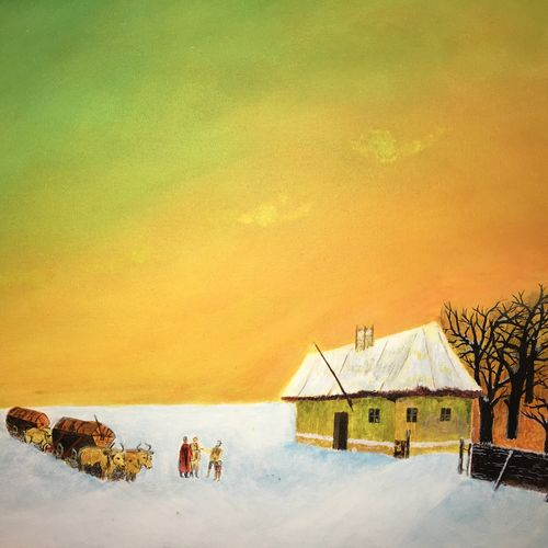 siberia 5, 24 x 12 inch, rajendra prasad,landscape paintings,paintings for living room,canvas,acrylic color,24x12inch,GAL06631622