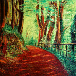 road in the woods, 24 x 16 inch, dipu jose,paintings,landscape paintings,nature paintings,paintings for dining room,paintings for living room,paintings for bedroom,paintings for office,paintings for hotel,paintings for dining room,paintings for living room,paintings for bedroom,paintings for office,paintings for hotel,canvas,acrylic color,24x16inch,GAL0727216242Nature,environment,Beauty,scenery,greenery