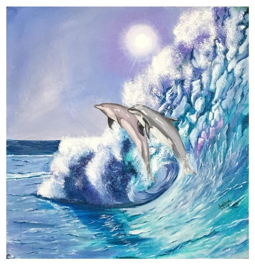 dolphins , 16 x 16 inch, subhash gijare,paintings,landscape paintings,nature paintings,art deco paintings,animal paintings,water fountain paintings,paintings for dining room,paintings for living room,paintings for bedroom,paintings for office,paintings for bathroom,paintings for kids room,paintings for hotel,paintings for kitchen,paintings for school,paintings for hospital,paintings for dining room,paintings for living room,paintings for bedroom,paintings for office,paintings for bathroom,paintings for kids room,paintings for hotel,paintings for kitchen,paintings for school,paintings for hospital,canvas,acrylic color,oil,16x16inch,GAL013816278Nature,environment,Beauty,scenery,greenery