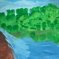 green carpet, 11 x 9 inch, shweta kshirsagar,paintings,landscape paintings,nature paintings,paintings for living room,paper,pencil color,11x9inch,GAL0732416283Nature,environment,Beauty,scenery,greenery