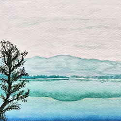 murky morning, 8 x 6 inch, jalpa chauhan,landscape paintings,nature paintings,paintings for living room,paintings for office,paintings for hotel,paintings for hospital,brustro watercolor paper,watercolor,8x6inch,GAL0669716294Nature,environment,Beauty,scenery,greenery