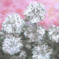 carnations, 22 x 28 inch, ravi bedi,flower paintings,thick paper,oil,22x28inch,GAL0715716296