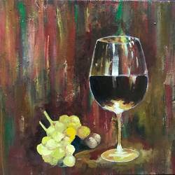 wine glass, 12 x 10 inch, vinay v  rao,paintings,abstract expressionist paintings,paintings for dining room,canvas,acrylic color,oil,12x10inch,GAL0734416302