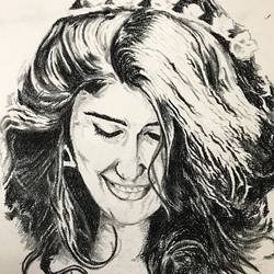 bewitching, 18 x 12 inch, vinay v  rao,drawings,paintings for living room,paintings for bedroom,paintings for office,figurative drawings,portrait drawings,paintings for living room,paintings for bedroom,paintings for office,thick paper,charcoal,18x12inch,GAL0734416303