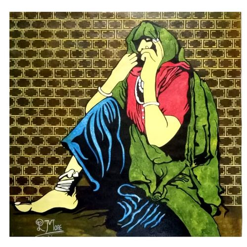 banjare - 4, 30 x 30 inch, paresh more,paintings,figurative paintings,modern art paintings,pop art paintings,paintings for dining room,paintings for living room,paintings for bedroom,paintings for office,paintings for hotel,paintings for dining room,paintings for living room,paintings for bedroom,paintings for office,paintings for hotel,canvas,acrylic color,30x30inch,GAL099716327