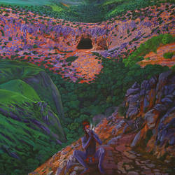 thulli  (drop), 66 x 84 inch, ajikumar r,paintings,landscape paintings,canvas,acrylic color,66x84inch,GAL0735416329