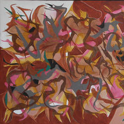 untitle-5, 50 x 26 inch, suryakant b.  tiwari,paintings,abstract paintings,canvas,acrylic color,50x26inch,GAL0736116341