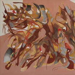 untitle-6, 50 x 26 inch, suryakant b.  tiwari,paintings,abstract paintings,canvas,acrylic color,50x26inch,GAL0736116351