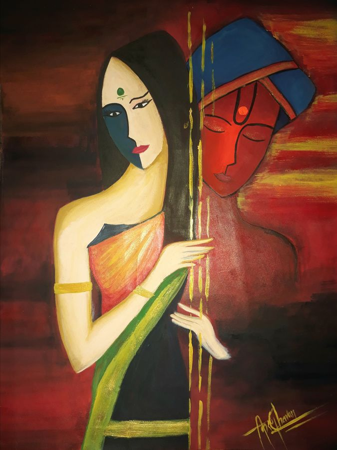 Buy Meera's Selfless Love For Krishna Painting at Lowest ...