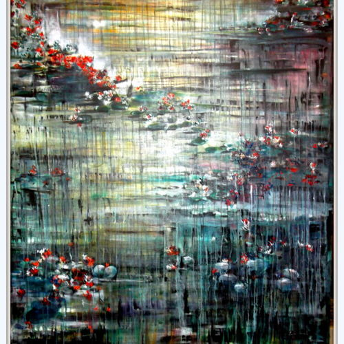 dusk, 30 x 42 inch, aparna  banerjee,abstract paintings,paintings for living room,canvas,acrylic color,30x42inch,GAL079916354