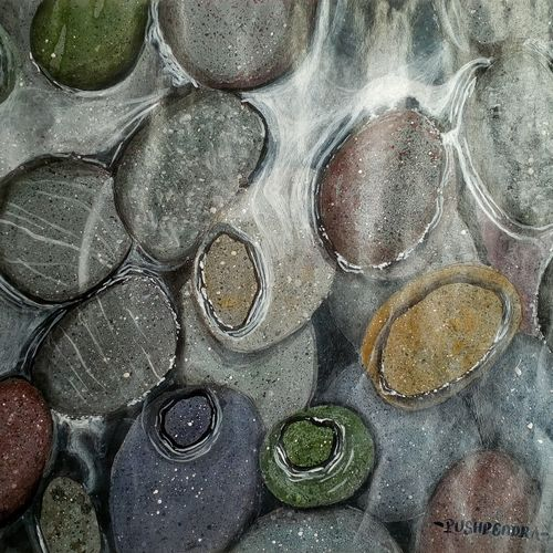 water and stones (realistic), 13 x 10 inch, pushpendra singh mandloi,paintings,landscape paintings,nature paintings,photorealism paintings,photorealism,realistic paintings,paintings for dining room,paintings for living room,paintings for bedroom,paintings for office,paintings for hotel,paper,acrylic color,13x10inch,GAL0726216372Nature,environment,Beauty,scenery,greenery