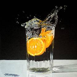waves in water (realistic), 12 x 12 inch, pushpendra singh mandloi,paintings,still life paintings,photorealism paintings,photorealism,paintings for dining room,paintings for living room,paintings for office,paintings for hotel,paintings for kitchen,canvas board,acrylic color,12x12inch,GAL0726216376