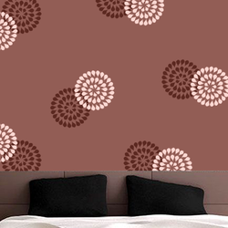 wall stencil: doted circle design stencils, 1 stencil (size 12x12 inches) | reusable | diy, 12 x 12 inch, wall stencil designs,12x12inch,ohp plastic sheets,flower designs,plastic,GAL0116379,GAL0116379