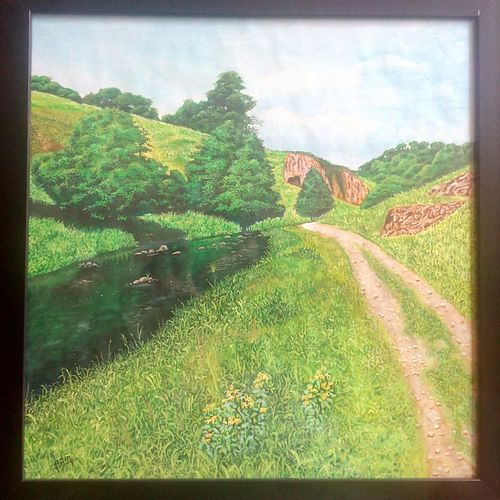 landscape1, 13 x 13 inch, pushpendra singh mandloi,paintings,landscape paintings,nature paintings,realistic paintings,paintings for living room,paintings for office,paintings for hotel,paintings for living room,paintings for office,paintings for hotel,paper,poster color,13x13inch,GAL0726216380Nature,environment,Beauty,scenery,greenery