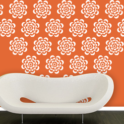wall stencil: curve circle design wall stencils, 1 stencil (size 12x12 inches) | reusable | diy, 12 x 12 inch, wall stencil designs,12x12inch,ohp plastic sheets,flower designs,plastic,GAL0116384,GAL0116384