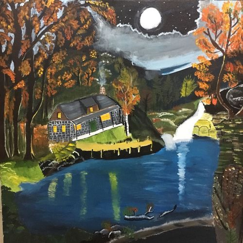 house in the woods, 25 x 25 inch, soumya kulkarni,paintings,nature paintings,paintings for dining room,paintings for living room,paintings for kids room,paintings for hotel,paintings for kitchen,paintings for school,paintings for hospital,paintings for dining room,paintings for living room,paintings for kids room,paintings for hotel,paintings for kitchen,paintings for school,paintings for hospital,canvas,acrylic color,25x25inch,GAL0109916389Nature,environment,Beauty,scenery,greenery