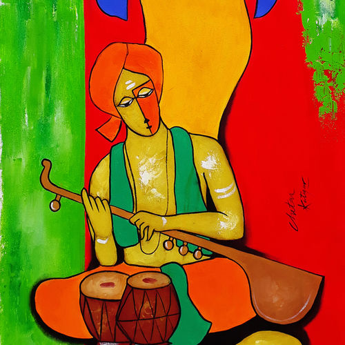 green night, 20 x 46 inch, chetan katigar,paintings,figurative paintings,modern art paintings,abstract expressionist paintings,art deco paintings,expressionist paintings,impressionist paintings,contemporary paintings,paintings for living room,paintings for bedroom,paintings for office,paintings for hospital,paintings for living room,paintings for bedroom,paintings for office,paintings for hospital,canvas,acrylic color,20x46inch,GAL026616407
