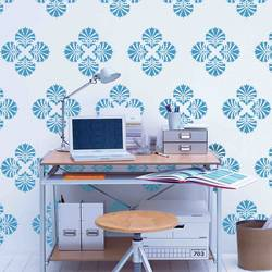 wall stencil: glossy trading wall stencil design , 1 stencil (size 12x12 inches) | reusable | diy, 12 x 12 inch, wall stencil designs,12x12inch,ohp plastic sheets,flower designs,plastic,GAL0116414,GAL0116414