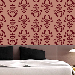 wall stencil: amazing wall stencil design , 1 stencil (size 12x12 inches) | reusable | diy, 12 x 12 inch, wall stencil designs,12x12inch,ohp plastic sheets,flower designs,plastic,GAL0116415,GAL0116415