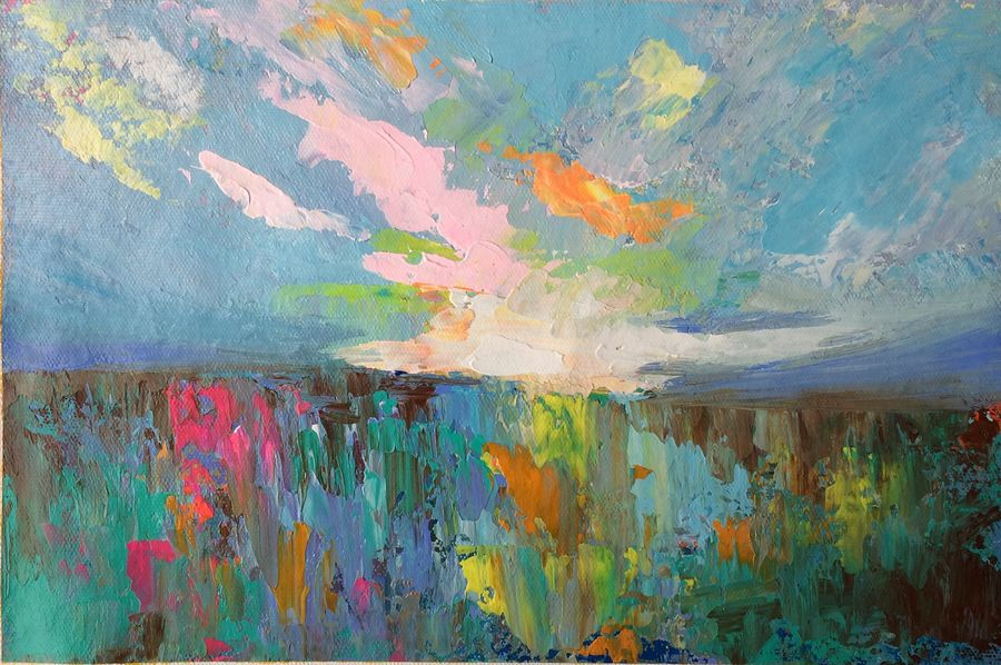 Buy Cool Breeze !! Abstract !! Painting At Lowest Price By Amita Dand
