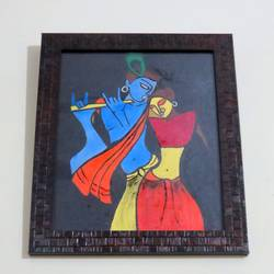 handmade canvas pintings, 8 x 10 inch, disha kathuria,paintings,religious paintings,radha krishna paintings,paintings for dining room,paintings for living room,paintings for bedroom,paintings for dining room,paintings for living room,paintings for bedroom,canvas,acrylic color,8x10inch,GAL0742416439,radhakrishna,love,pece,lordkrishna,,lordradha,peace,flute,music,radha,krishna,devotion,couple