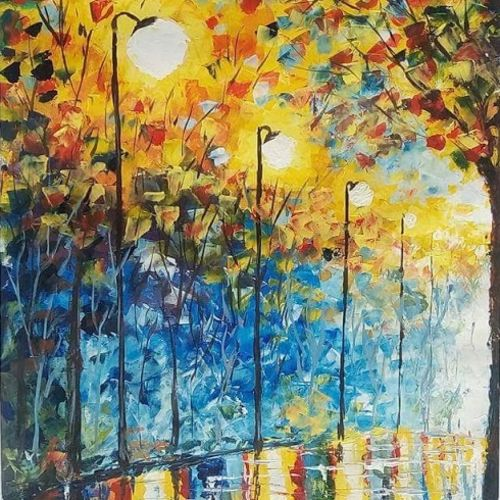 evening beauty in rainy day, 14 x 21 inch, chandrakesh  singh,paintings,abstract paintings,flower paintings,cityscape paintings,landscape paintings,modern art paintings,multi piece paintings,nature paintings,art deco paintings,illustration paintings,realism paintings,street art,paintings for dining room,paintings for living room,paintings for bedroom,paintings for office,paintings for kids room,paintings for hotel,paintings for kitchen,paintings for school,paintings for hospital,thick paper,acrylic color,oil,14x21inch,GAL0705616454Nature,environment,Beauty,scenery,greenery