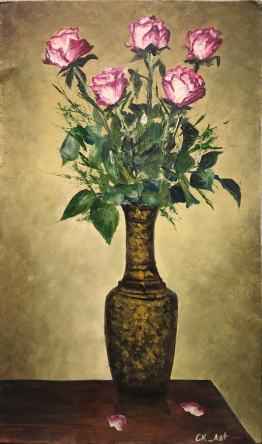 flowers beauty, 10 x 16 inch, chandrakesh  singh,paintings,flower paintings,still life paintings,nature paintings,art deco paintings,illustration paintings,realism paintings,realistic paintings,paintings for dining room,paintings for living room,paintings for bedroom,paintings for office,paintings for kids room,paintings for hotel,paintings for kitchen,paintings for school,paintings for hospital,ply board,oil,10x16inch,GAL0705616455Nature,environment,Beauty,scenery,greenery
