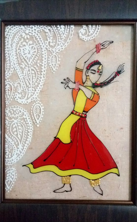 kathak, 6 x 8 inch, deepti agrawal,paintings,figurative paintings,expressionist paintings,minimalist paintings,acrylic glass,mixed media,6x8inch,GAL0596816483