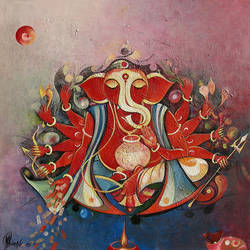 mahalaxmi ganesha, 24 x 24 inch, m. singh,paintings,figurative paintings,religious paintings,ganesha paintings,paintings for office,paintings for kids room,paintings for hotel,paintings for school,paintings for hospital,canvas,acrylic color,24x24inch,GAL0537716498,vinayak,ekadanta,ganpati,lambodar,peace,devotion,religious,lord ganesha,lordganpati,,ganpati,ganesha,lord ganesh,elephant god,religious,ganpati bappa morya,mouse,mushakraj,ladoo,sweets,mahalaxmi ganesha,ganpati bappa morya,ganesh chaturthi,ganesh murti,elephant god,religious,lord ganesh,ganesha,om,hindu god,shiv parvati, putra,bhakti,blessings,aashirwad,pooja,puja,aarti,ekdant,vakratunda,lambodara,bhalchandra,gajanan,vinayak,prathamesh,vignesh,heramba,siddhivinayak,mahaganpati,omkar,mushak,mouse,ladoo,modak