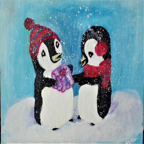 friendship bond, 10 x 12 inch, anjali p,paintings,abstract paintings,figurative paintings,modern art paintings,children paintings,kids paintings,paintings for living room,paintings for bedroom,paintings for office,paintings for kids room,canvas board,acrylic color,10x12inch,GAL0525216504