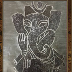 beautiful pencil sketch ganesha painting, 12 x 18 inch, diksha anand,paintings,religious paintings,ganesha paintings,realistic paintings,paintings for dining room,paintings for living room,paintings for bedroom,paintings for office,paintings for kids room,paintings for hotel,paintings for kitchen,paintings for school,paintings for hospital,paper,charcoal,pen color,graphite pencil,12x18inch,GAL030416517,vinayak,ekadanta,ganpati,lambodar,peace,devotion,religious,lord ganesha,lordganpati