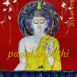 gautam buddha - dhyanam, 31 x 36 inch, payal tripathi,paintings,abstract paintings,buddha paintings,figurative paintings,religious paintings,abstract expressionist paintings,art deco paintings,expressionist paintings,contemporary paintings,paintings for dining room,paintings for living room,paintings for bedroom,paintings for office,paintings for kids room,paintings for hotel,paintings for kitchen,paintings for school,paintings for hospital,canvas,acrylic color,31x36inch,religious,peace,meditation,meditating,gautam,goutam,buddha,lord,idol,mudra,GAL0425516520