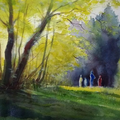 morning light , 21 x 14 inch, tuhin rakshit,paintings for dining room,paintings for living room,paintings for bedroom,paintings for office,paintings for kids room,paintings for hotel,paintings for school,paintings for hospital,handmade paper,watercolor,21x14inch,GAL0375816537