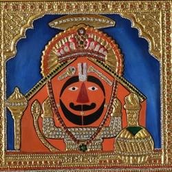 salasar balaji, 12 x 13 inch, varuna sarswat,tanjore paintings,paintings for living room,hardboard,oil,12x13inch,GAL0733316552