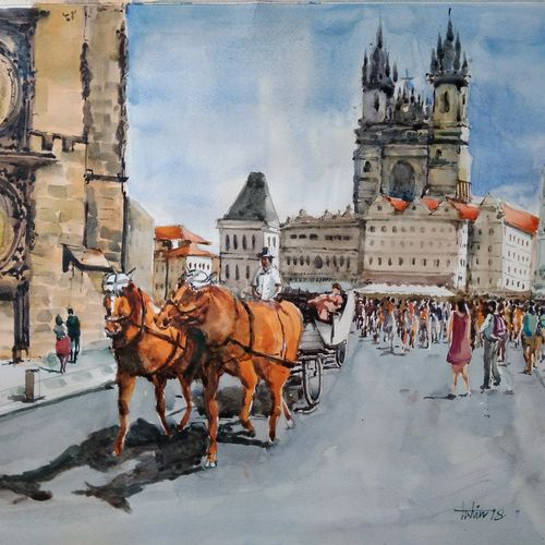 prague city center , 20 x 13 inch, tuhin rakshit,paintings,cityscape paintings,paintings for dining room,paintings for living room,paintings for bedroom,paintings for kids room,paintings for hotel,paintings for kitchen,paintings for school,paintings for hospital,paintings for dining room,paintings for living room,paintings for bedroom,paintings for kids room,paintings for hotel,paintings for kitchen,paintings for school,paintings for hospital,canson paper,watercolor,20x13inch,GAL0375816578