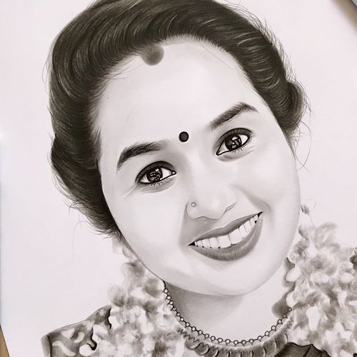 charcoal portrait drawing , 8 x 12 inch, prasad artist ,fine art drawings,photorealism drawings,portrait drawings,drawing paper,charcoal,8x12inch,GAL05116585