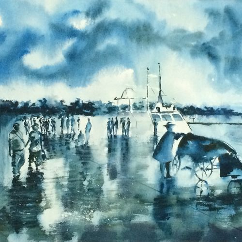 wet jelly in andamans, 25 x 17 inch, dipankar  biswas,paintings,nature paintings,paintings for living room,handmade paper,watercolor,25x17inch,GAL0293216604Nature,environment,Beauty,scenery,greenery