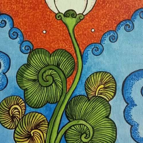 mural painting , 8 x 10 inch, maggi mathew,flower paintings,folk art paintings,multi piece paintings,religious paintings,paintings for living room,paintings for bedroom,paintings for office,paintings for kids room,paintings for hotel,kerala murals painting,canvas,acrylic color,8x10inch,GAL0329916614