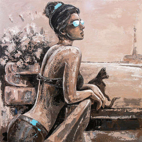 another day, 32 x 32 inch, gurdish pannu,paintings,figurative paintings,canvas,acrylic color,32x32inch,GAL0253716623