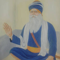 baba deep singh ji, 14 x 17 inch, dilpreet honey,paintings,religious paintings,thick paper,oil,14x17inch,GAL0677616630