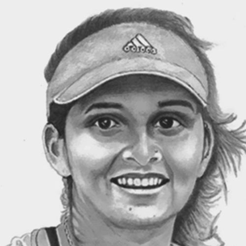 sania mirza, 8 x 10 inch, shivkumar  menon,drawings,portrait drawings,paintings for living room,thick paper,graphite pencil,8x10inch,GAL098616642