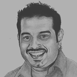 shankar mahadevan, 8 x 10 inch, shivkumar  menon,drawings,portrait drawings,paintings for living room,thick paper,graphite pencil,8x10inch,GAL098616646