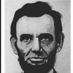 abraham lincoln, 8 x 11 inch, shivkumar  menon,drawings,portrait drawings,paintings for living room,thick paper,graphite pencil,8x11inch,GAL098616647