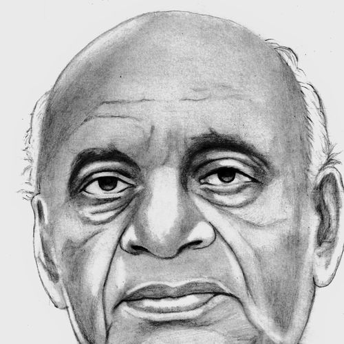 vallabhai patel, 8 x 10 inch, shivkumar  menon,drawings,portrait drawings,paintings for living room,thick paper,graphite pencil,8x10inch,GAL098616649