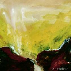 anamikascape 11, 12 x 12 inch, anamika s,paintings,abstract paintings,landscape paintings,impressionist paintings,contemporary paintings,paintings for dining room,paintings for living room,paintings for bedroom,paintings for office,paintings for kids room,paintings for hotel,paintings for school,paintings for hospital,canvas,acrylic color,12x12inch,GAL0414516659