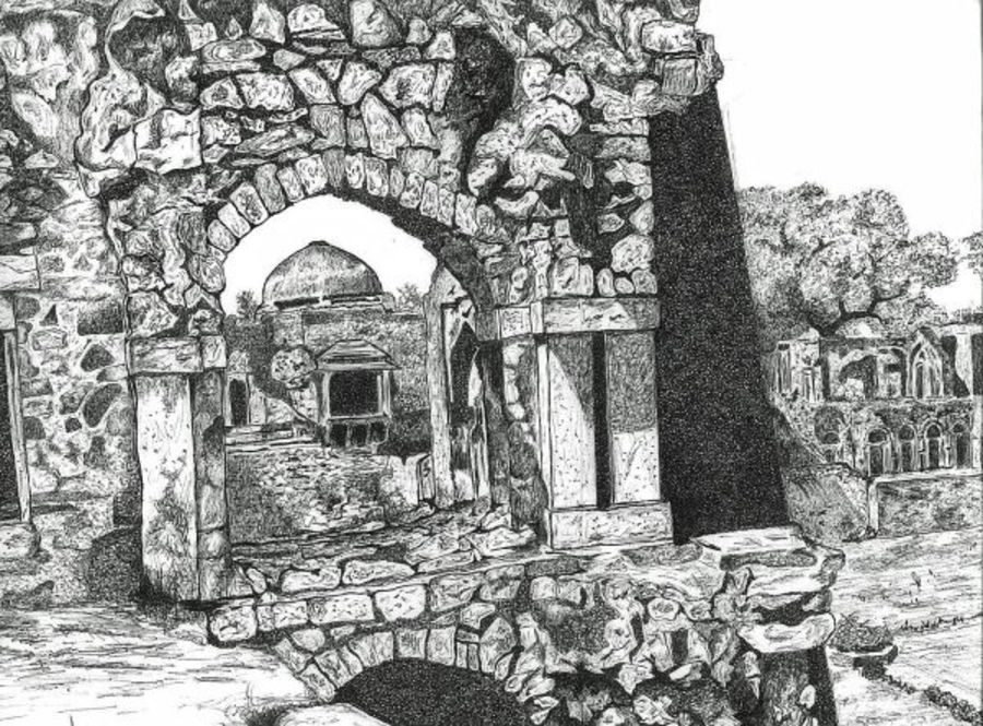 resilent, 16 x 11 inch, biju puthiyapurail,paintings for living room,illustration drawings,drawings,fine art drawings,paintings for office,paintings for hotel,ivory sheet,ball point pen,16x11inch,GAL04741668